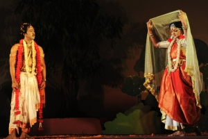 Performing in 'Chitrangada'