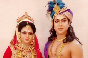 Shibli and Nipa as Krishna and Radha