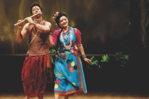 Nipa and Shibli Performing in Dance Drama Mohua (1)