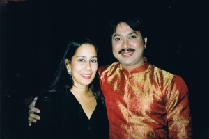 With Monica Yunus, operatic soprano, and daughter of Dr Yunus, Oslo, 2006