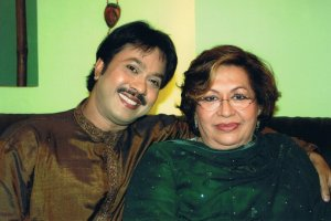 With legendary Indian actress Helen